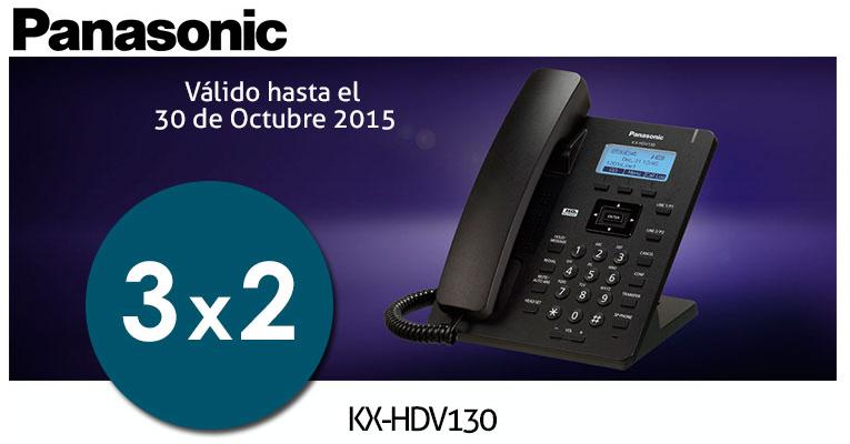 Oferta Teléfono Panasonic KX-HDV130 VoIP
